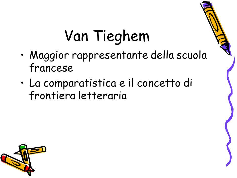 Van Tieghem Maggior rappresentante della scuola francese