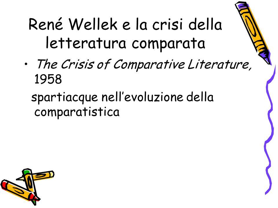 René Wellek e la crisi della letteratura comparata