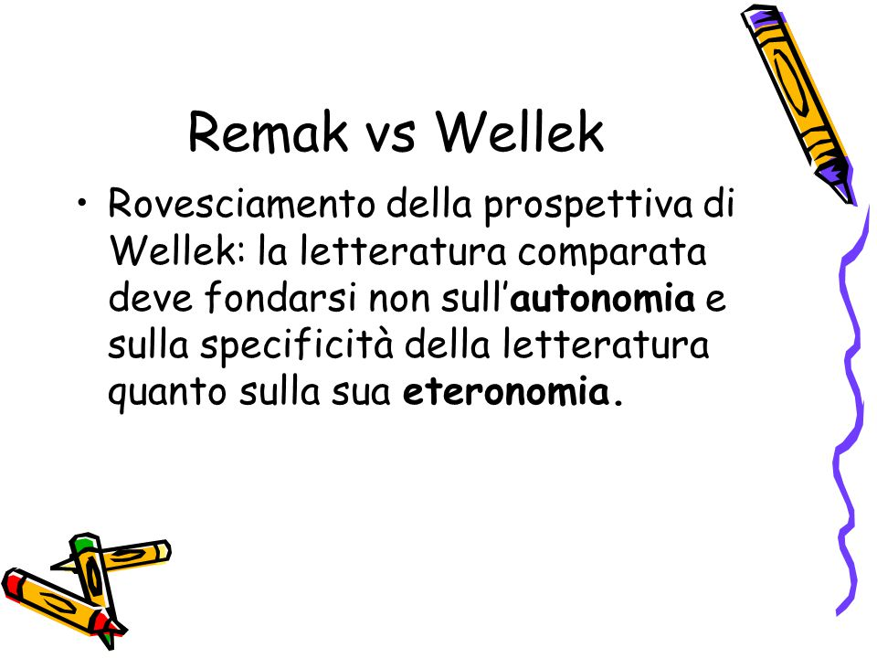 Remak vs Wellek