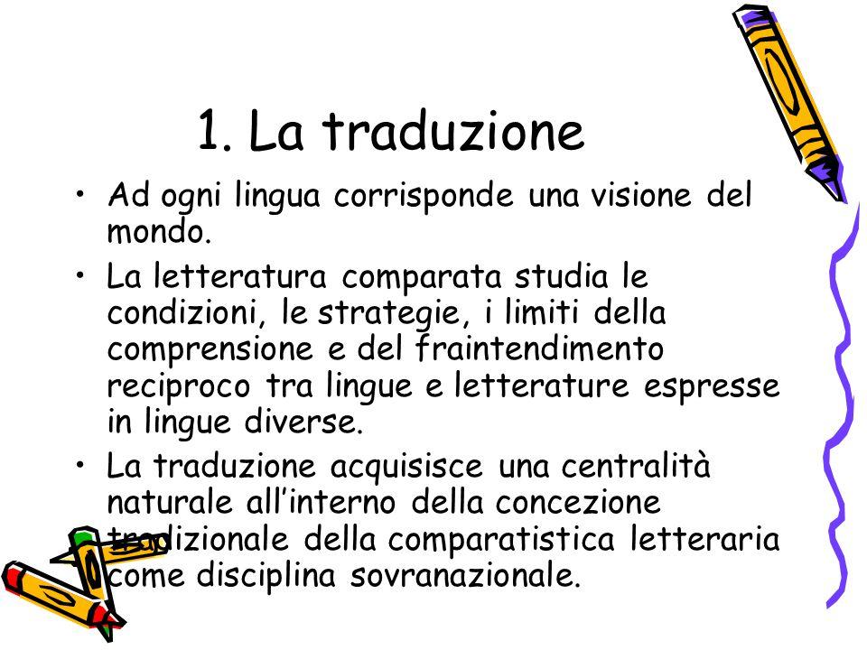 1. La traduzione Ad ogni lingua corrisponde una visione del mondo.