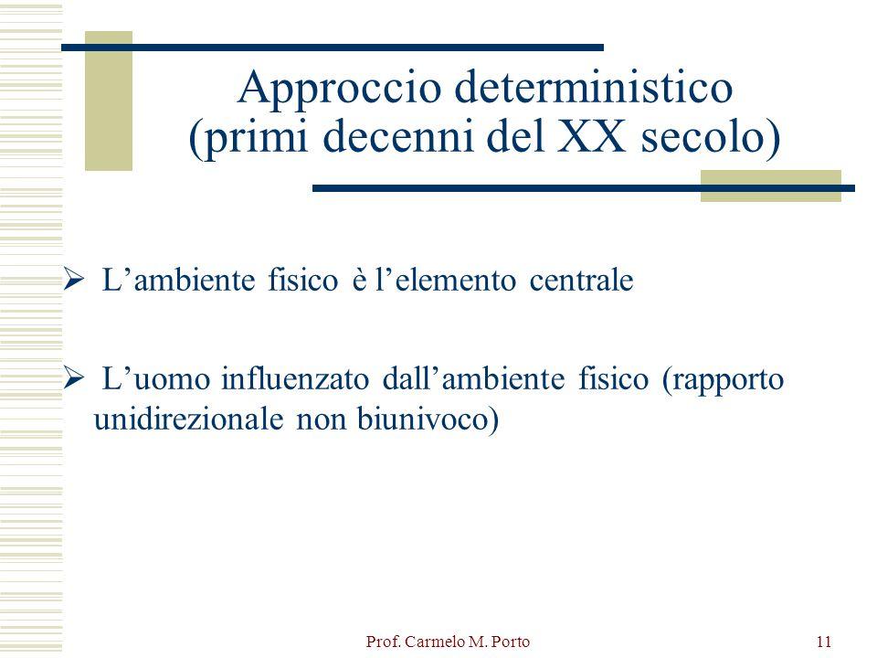 Approccio deterministico (primi decenni del XX secolo)