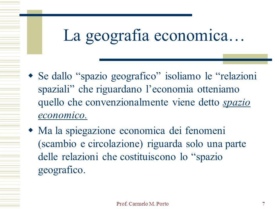 La geografia economica…