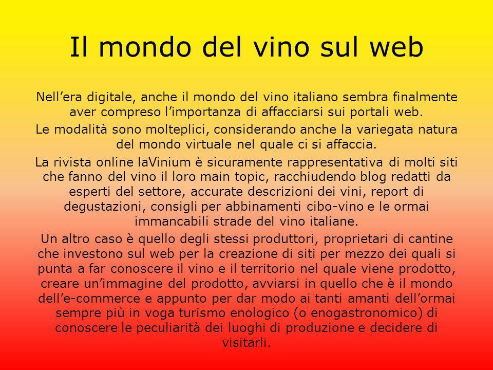 Il mondo del vino sul web