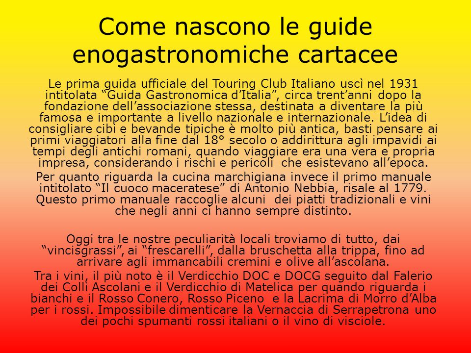 Come nascono le guide enogastronomiche cartacee