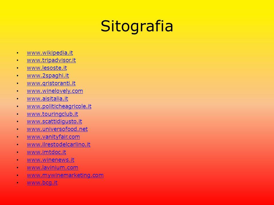 Sitografia www.wikipedia.it www.tripadvisor.it www.lesoste.it