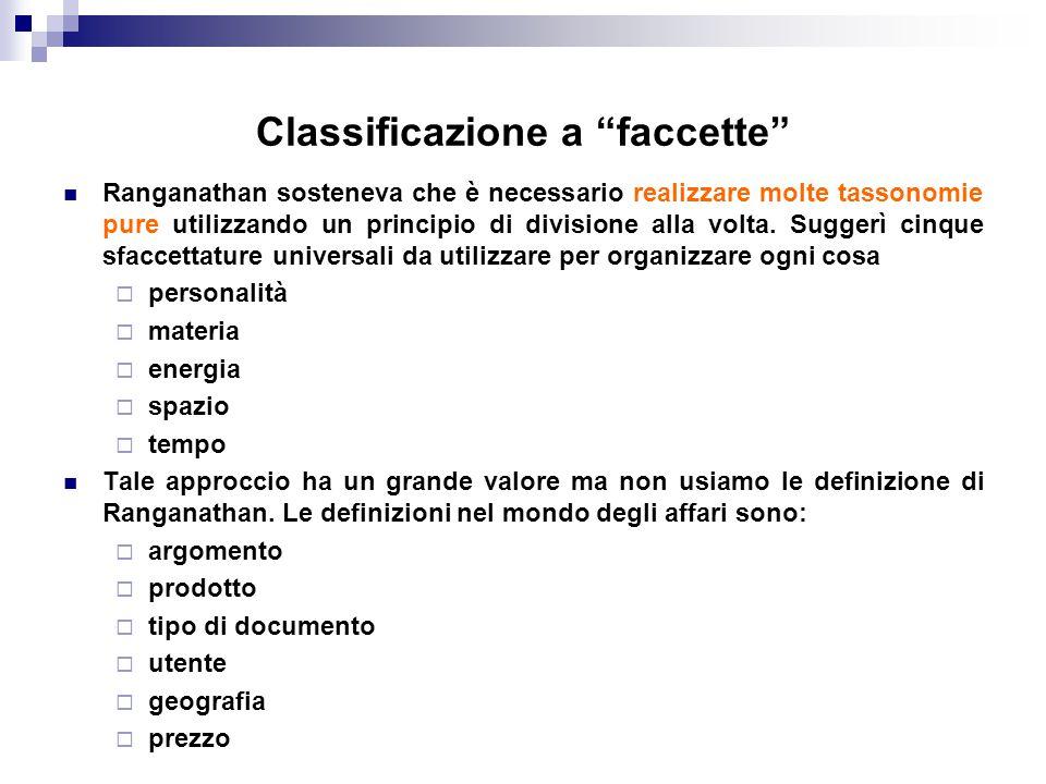 Classificazione a faccette