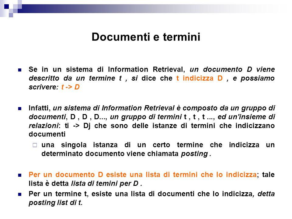 Documenti e termini