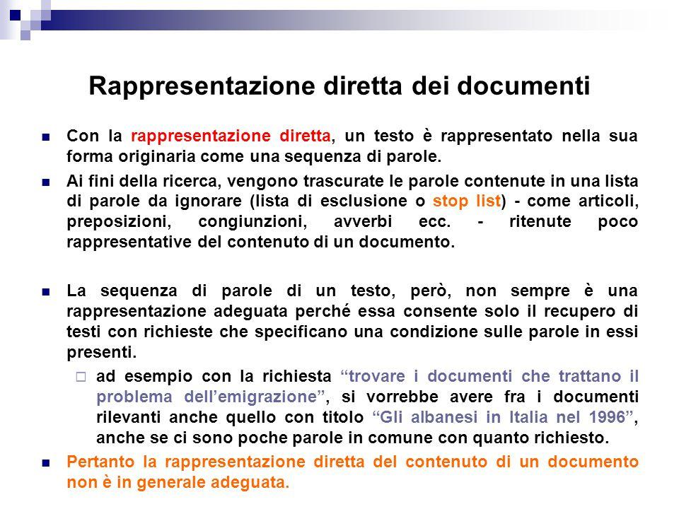 Rappresentazione diretta dei documenti