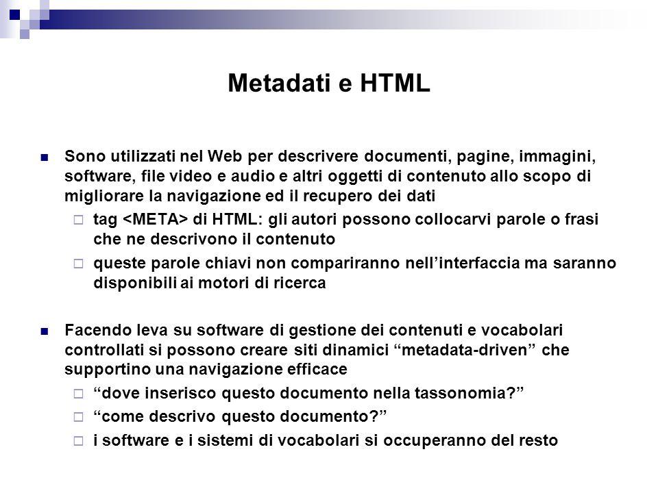 Metadati e HTML
