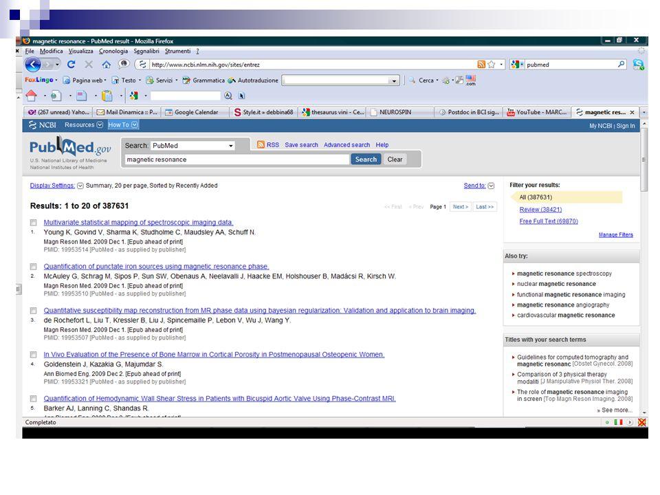 Thesaurus in azione PubMed offre un'interfaccia pubblica semplificata con libero accesso alle citazioni.