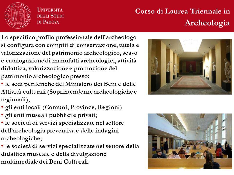 Archeologia Corso di Laurea Triennale in