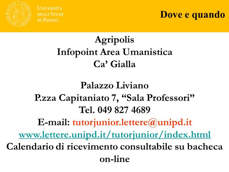 Infopoint Area Umanistica Ca' Gialla Palazzo Liviano