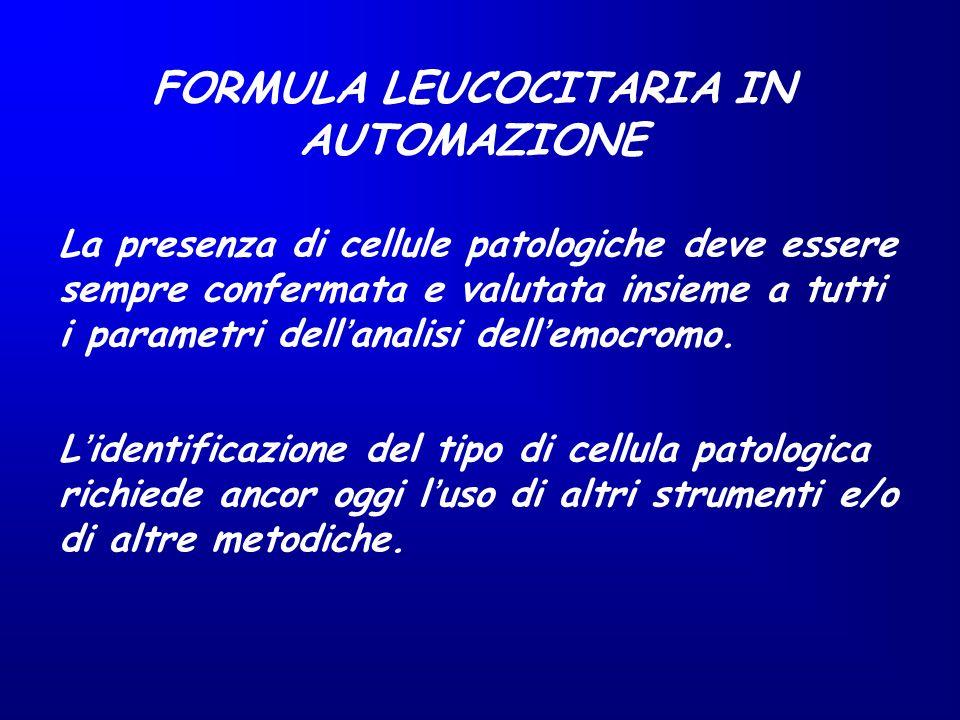 FORMULA LEUCOCITARIA IN AUTOMAZIONE