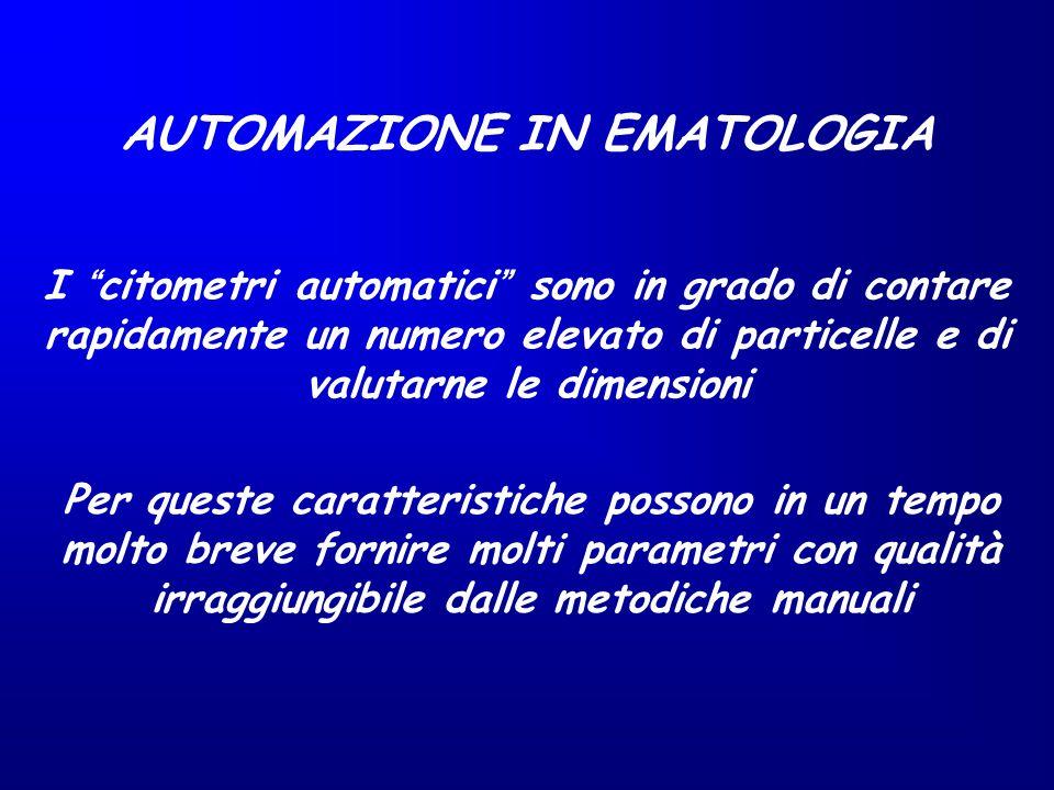 AUTOMAZIONE IN EMATOLOGIA