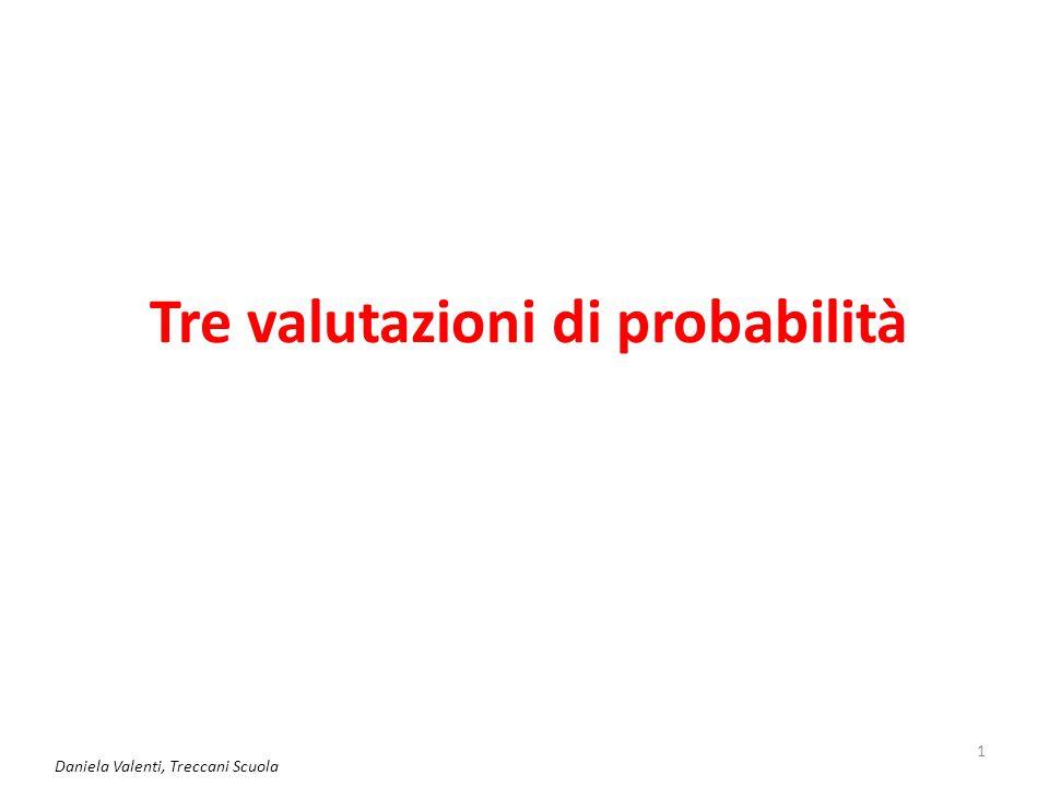 Tre valutazioni di probabilità