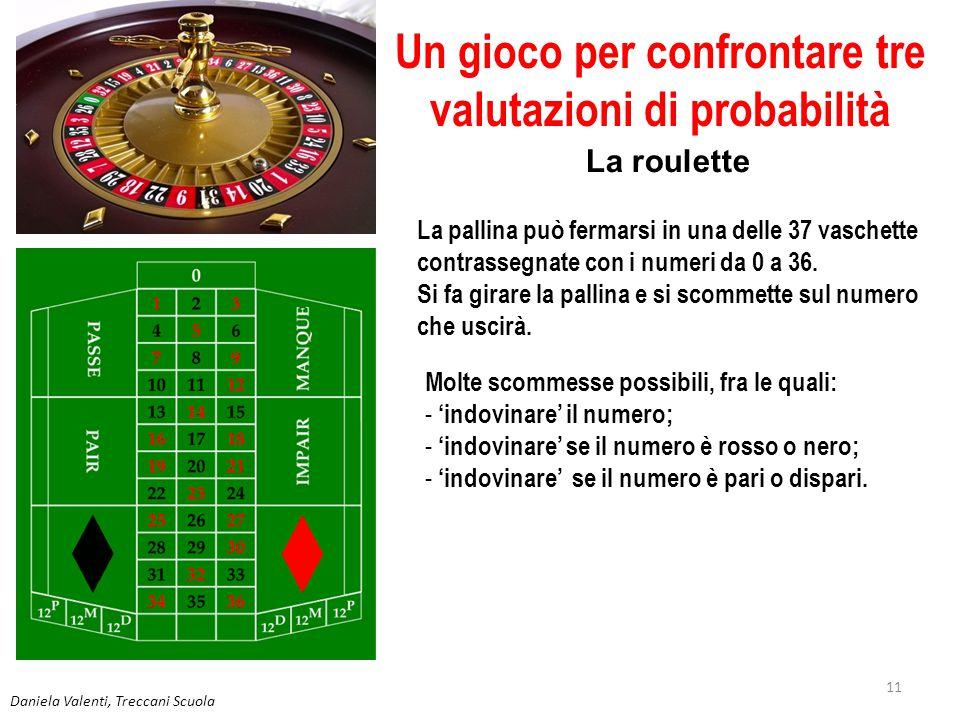 Un gioco per confrontare tre valutazioni di probabilità