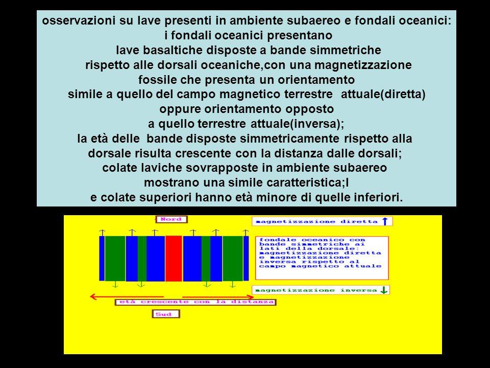 osservazioni su lave presenti in ambiente subaereo e fondali oceanici: