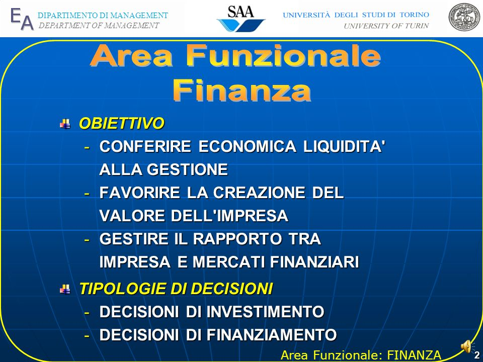 Area Funzionale Finanza