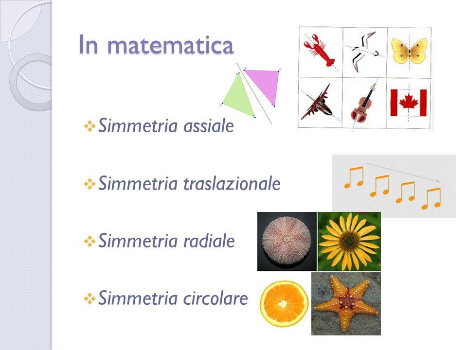 In matematica Simmetria assiale Simmetria traslazionale