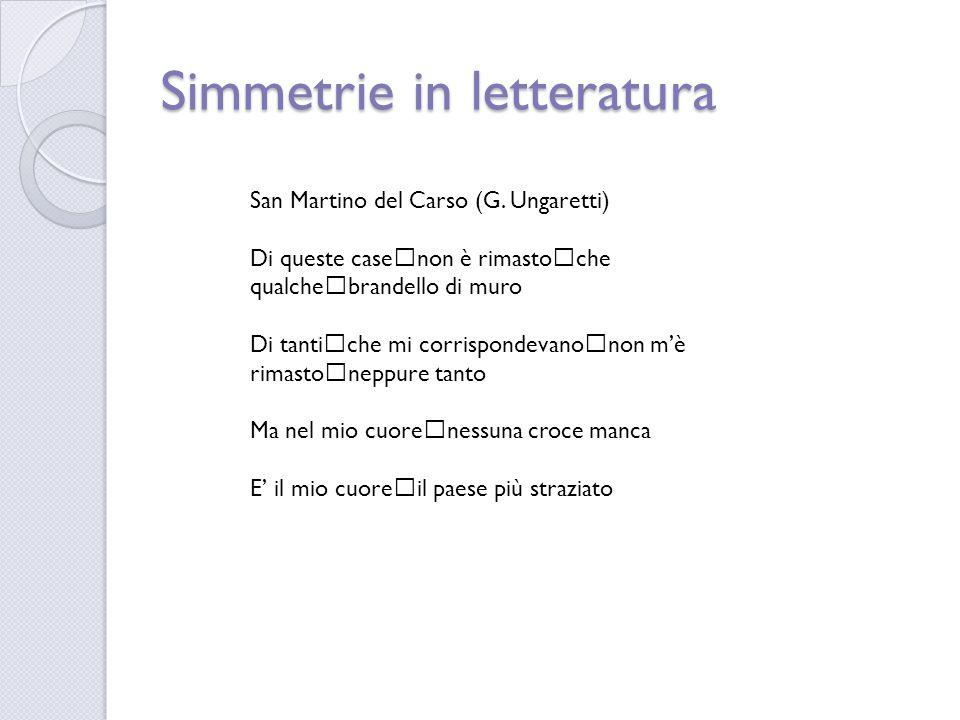 Simmetrie in letteratura