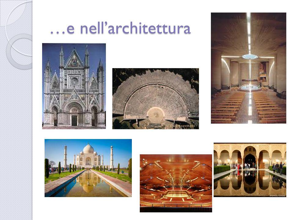 …e nell'architettura