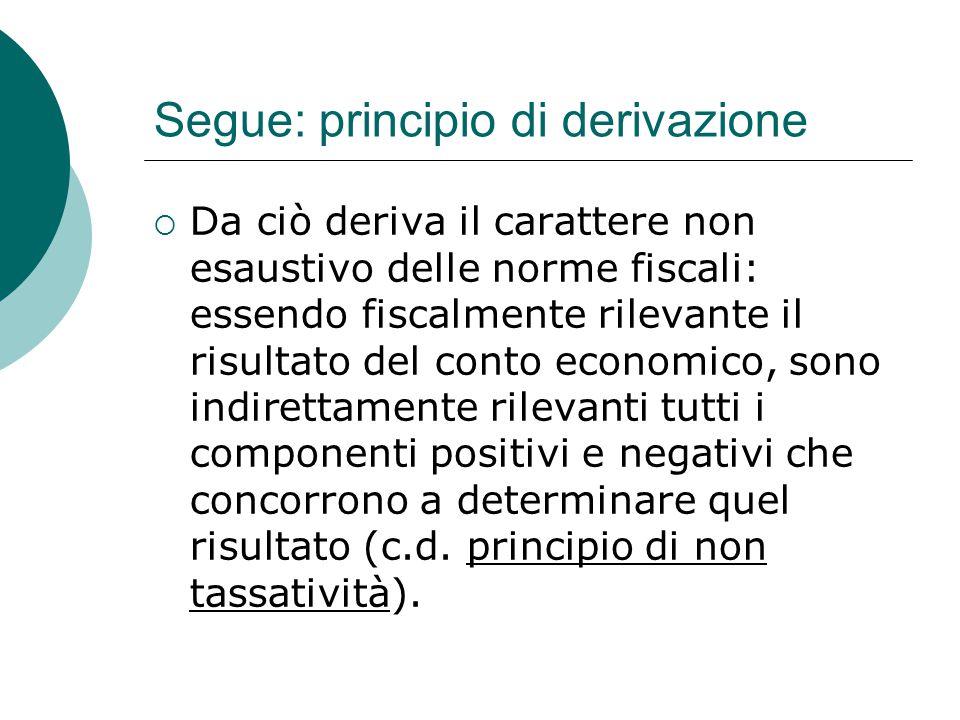 Segue: principio di derivazione