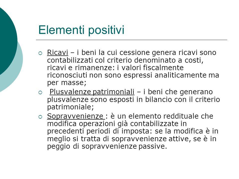 Elementi positivi