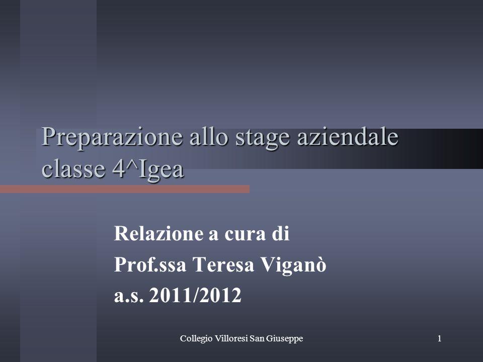 Preparazione allo stage aziendale classe 4^Igea