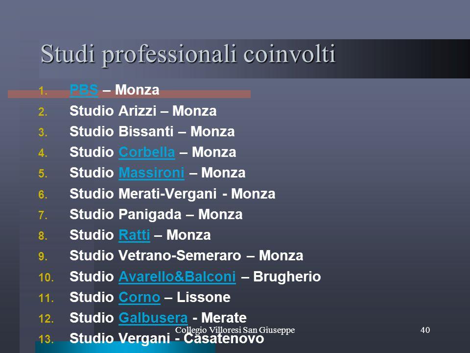 Studi professionali coinvolti