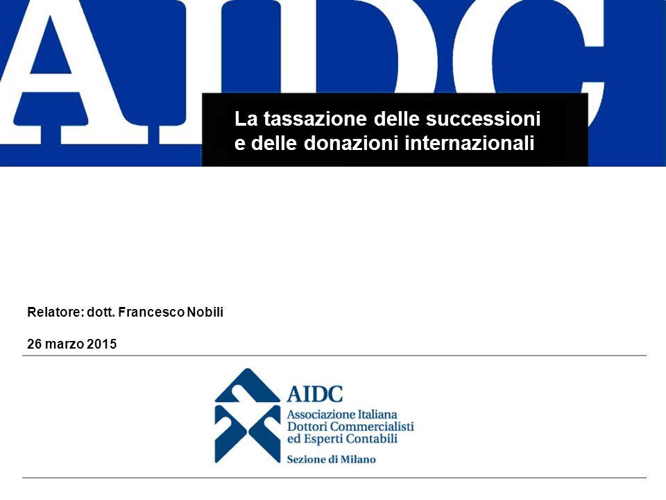 La tassazione delle successioni e delle donazioni internazionali