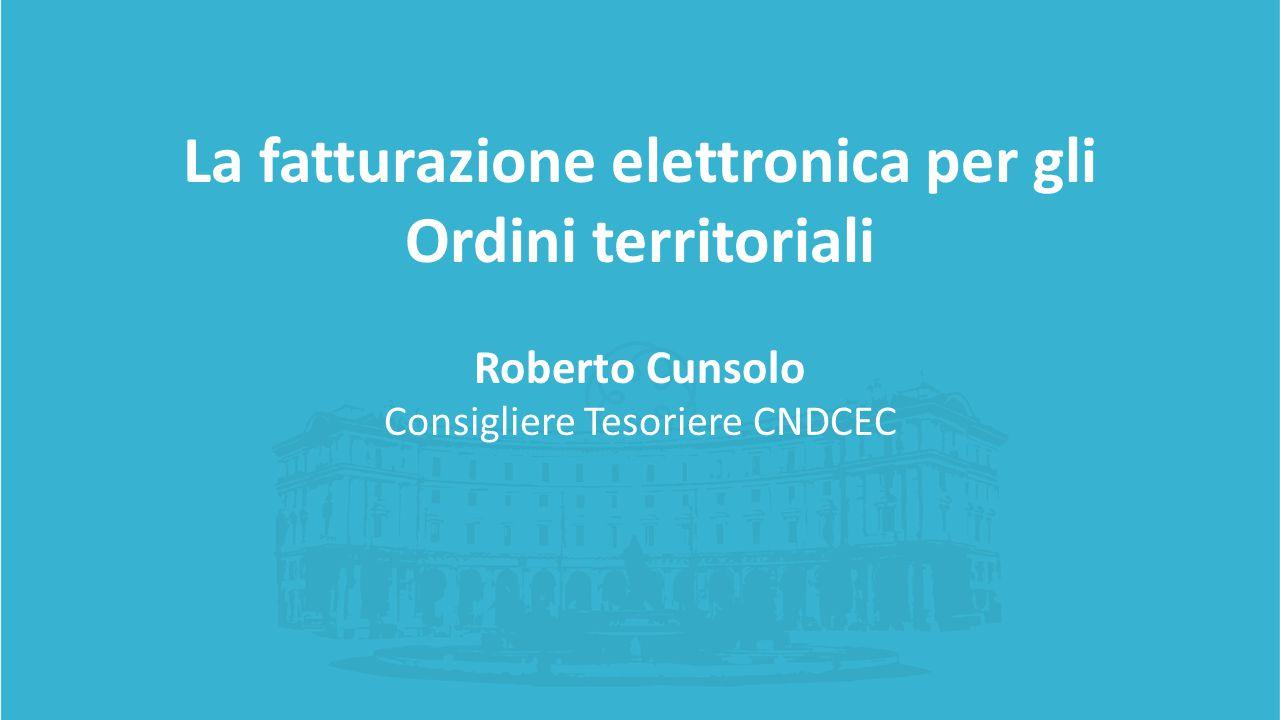 La fatturazione elettronica per gli Ordini territoriali