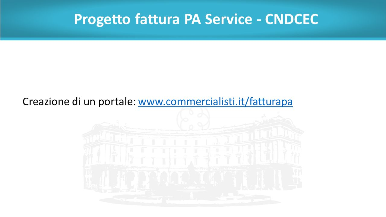 Progetto fattura PA Service - CNDCEC