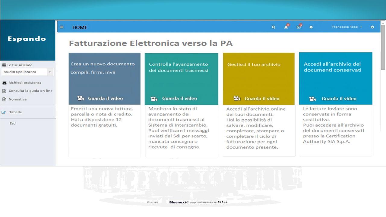 Un servizio in collaborazione con SIA S.p.A.