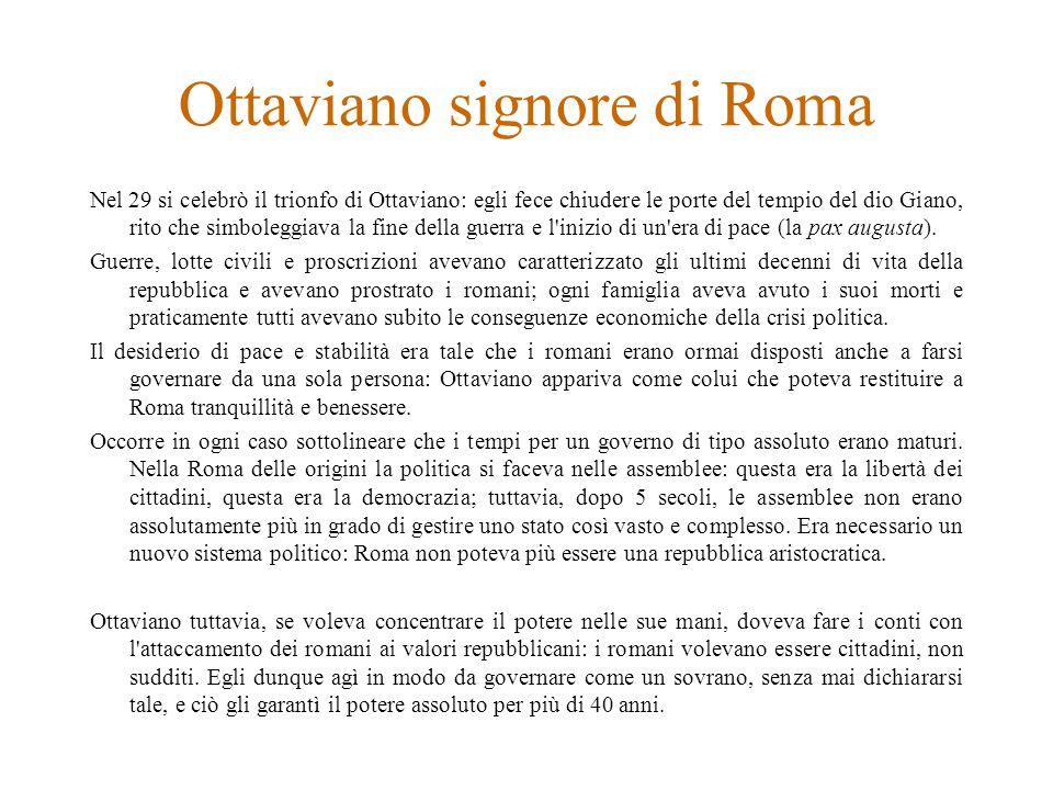 Ottaviano signore di Roma