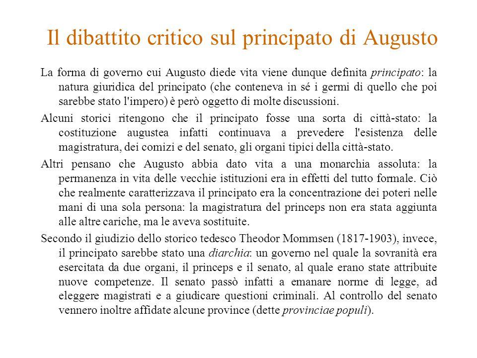 Il dibattito critico sul principato di Augusto