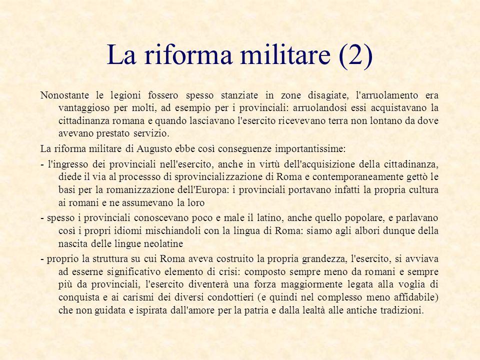 La riforma militare (2)
