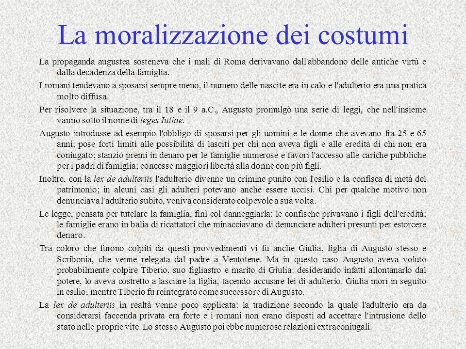 La moralizzazione dei costumi