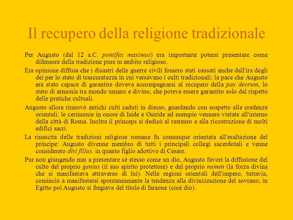Il recupero della religione tradizionale