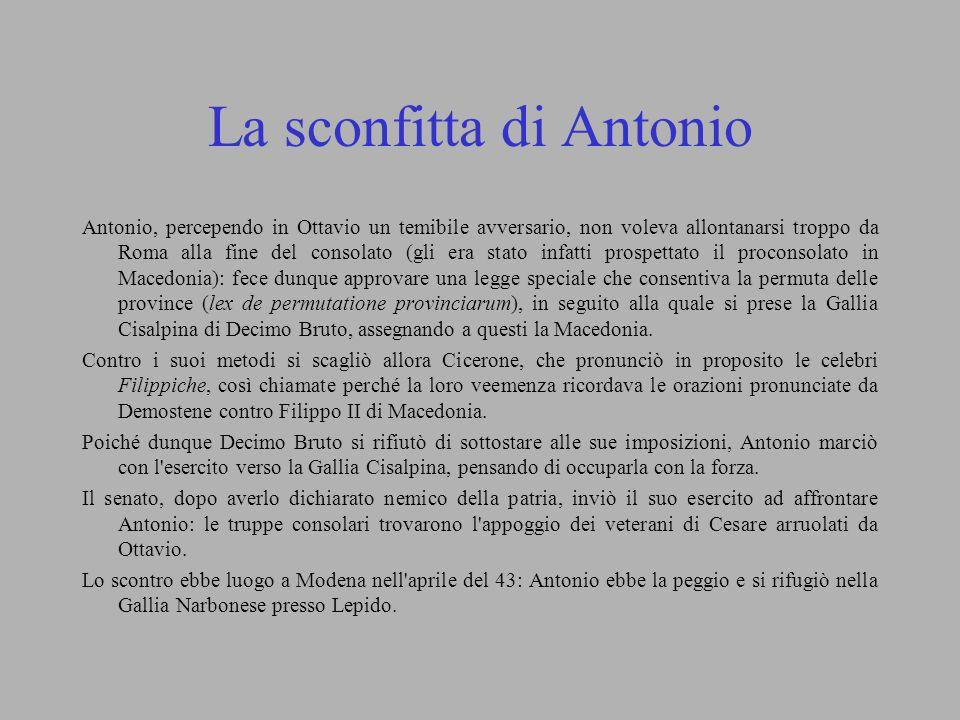 La sconfitta di Antonio