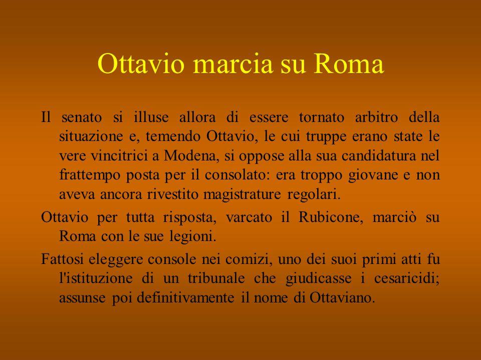 Ottavio marcia su Roma