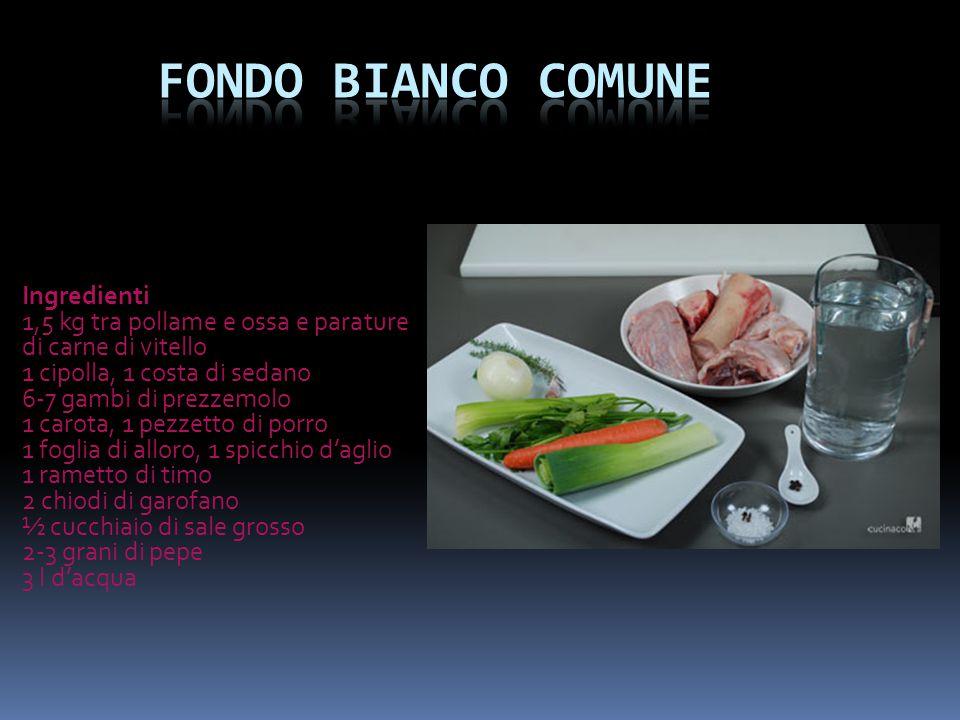 Fondo bianco comune Ingredienti