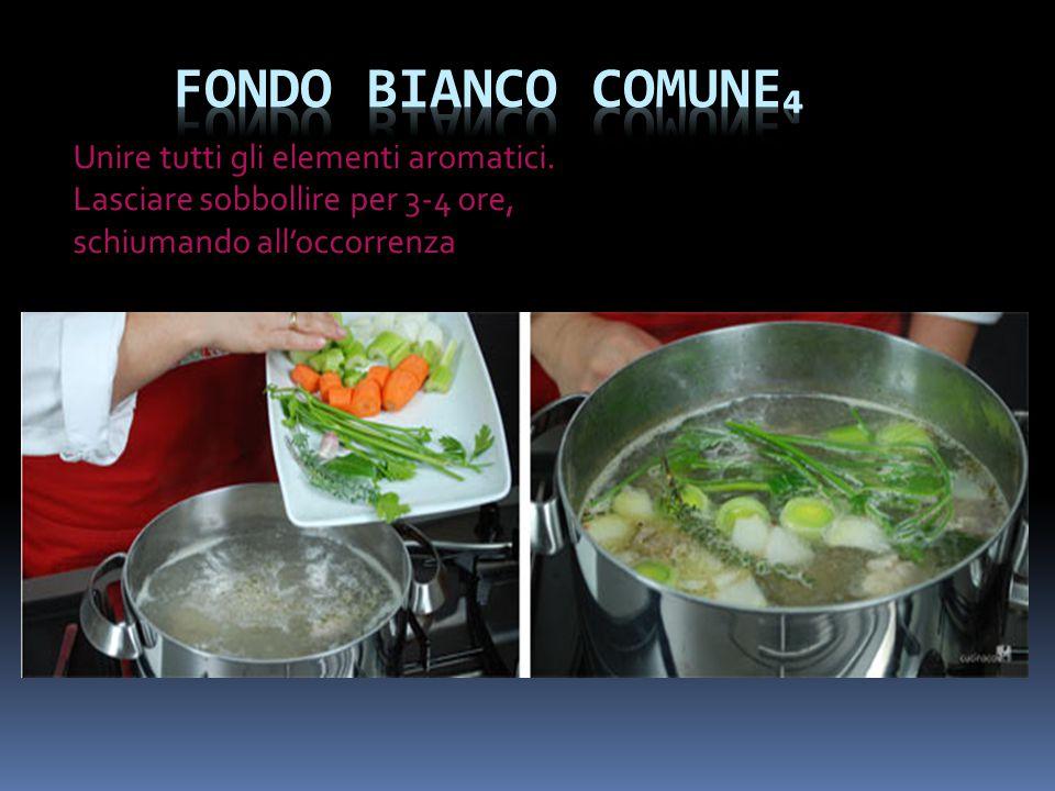 Fondo bianco comune₄ Unire tutti gli elementi aromatici.