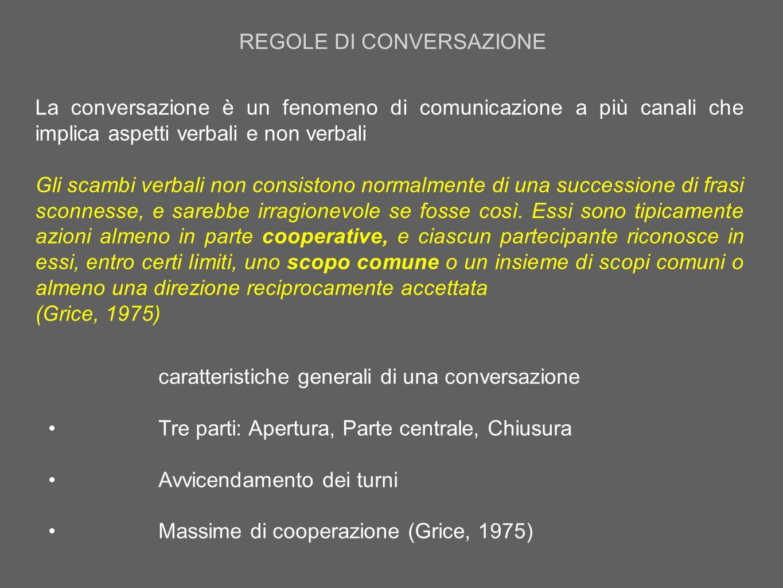 REGOLE DI CONVERSAZIONE