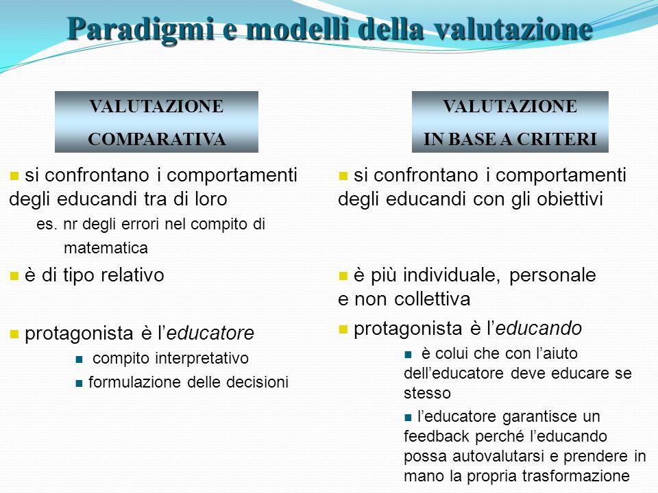 Paradigmi e modelli della valutazione
