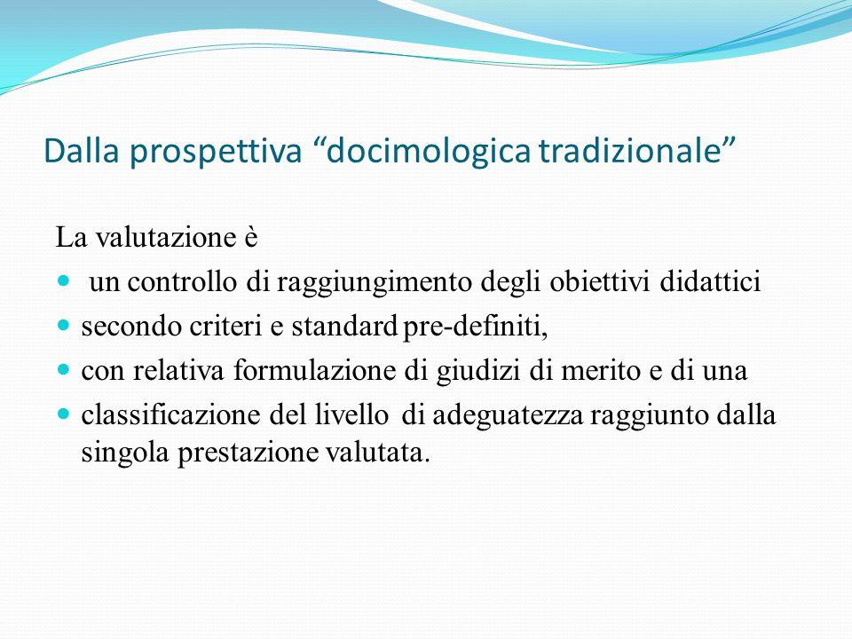 Dalla prospettiva docimologica tradizionale