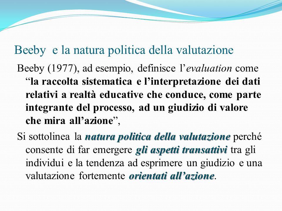 Beeby e la natura politica della valutazione