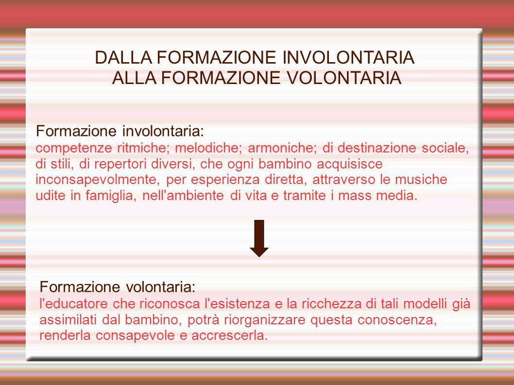 DALLA FORMAZIONE INVOLONTARIA ALLA FORMAZIONE VOLONTARIA