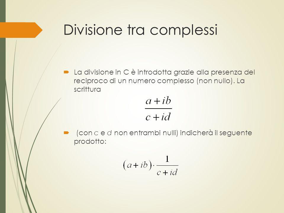 Divisione tra complessi