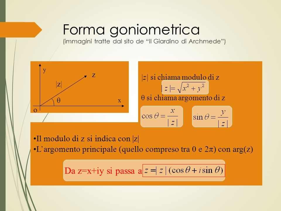 Forma goniometrica (immagini tratte dal sito de Il Giardino di Archmede )