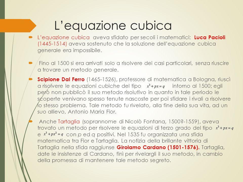 L'equazione cubica